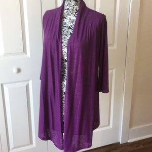Purple light sweater size medium